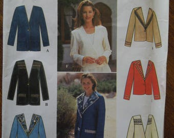 Simplicity 9826, sizes 12-16, lined jacket, UNCUT sewing pattern, craft supplies, misses, womens