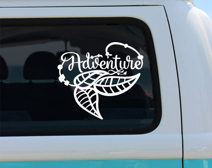 Adventure Bohemian Vinyl Decal Sticker - Car Sticker - Window Decal - Car Decal - Vinyl Decal - Adventure - Adventure Decal - Decal - Boho