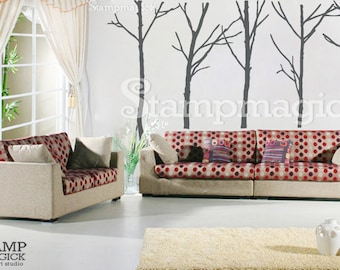 Trees Wall Decal - Bare Trees Wall Decal Sticker - Vinyl Wall Art Decor Graphics - K020