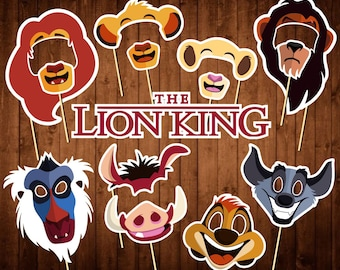 Disney Lion King Photo Booth Props - Printable PDF - Lion King Party Supplies - Lion King Birthday - Lion King Props - Disney Party Decor