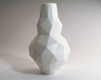 Low-Poly 3D Modern Vase Modern Pottery Modernist Vase Gourd Vase Polygon Office Gift Office Vase Large White Bottle Vase Large