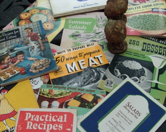 more more more dozen vintage cookbooks