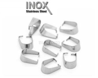 50 bails 10mm stainless u bail charm pendant Lot M01621 stainless steel clasp