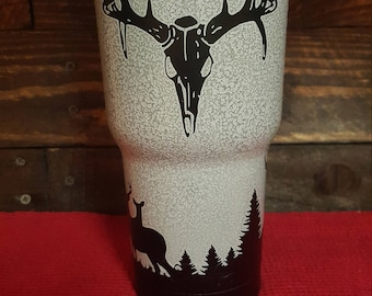 Yeti/HOGG powder coated, Deer Hunting Tumbler. No paint! No epoxy! No vinyl! No stickers!  All completely powdercoated.
