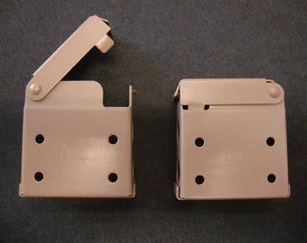 6 Pair  Horizontal Blind Brackets, For High Profile Head Rail,  in Cocoa Metal