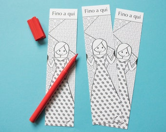 "Bookmark coloring ""Up in here"""