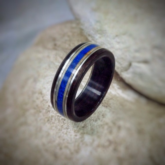 Azzure Silvers: Azure Deep Lapis Lazuli Sycamore & Sterling Silver Bent