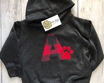 Aurora A paw print  --- Youth/Toddler Hoodie