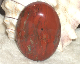 "Natural Red brecciated Jasper gemstone cabochon pendant bead-30 x 40 mm- (1 3/4"" x 1 1/4"")-e837"