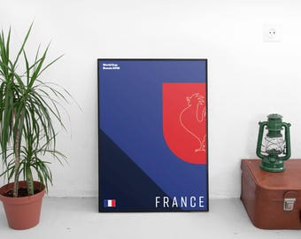 France World Cup 2018 A2 Retro Poster