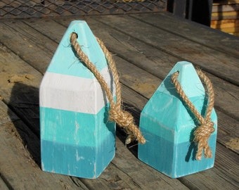 Buoys, Reclaimed Wood  Set of 2- Available in Assorted Colors, Altered Nature