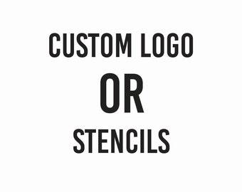 Custom Logo or Non-reusable Stencils Designs