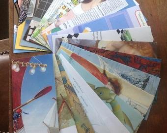 Kids Mix envelopes - Letter size - No. 10 envelopes - Pen pal gift - Book page envelopes - stationery gift - eco gift - funny envelopes