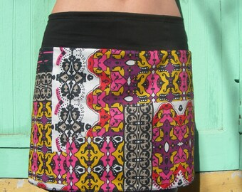 1 '3 in 1' mini skirt striped custom luck zania