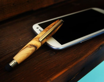 Stylus Pen in Olive wood iPad Stylus Wooden Stylus Writing Stylus Handmade Stylus Touch Screen Stylus Graduation Gift Office Gift