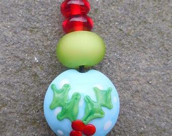 Holly Lampwork Bead Mini Set
