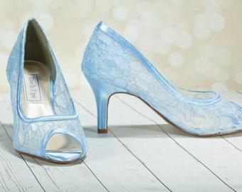 Wedding Shoes - Lace - Lace Heels- Dyeable Choose From Over 250 Colors - Lace Wedding Shoe - Custom Dyeable Shoes - Bespoke Wedding Shoes