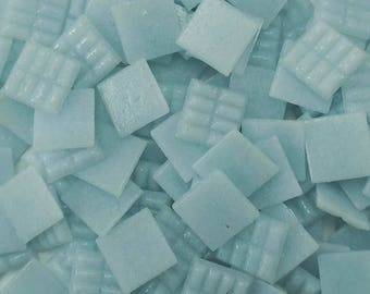 Vitreous glass mosaic tiles, 20x20 mm (3/4 inch),Arctic blue