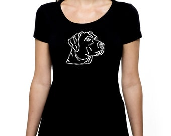 Labrador Retriever RHINESTONE t-shirt tank top  S M L XL 2XL - Lab Dog Bling