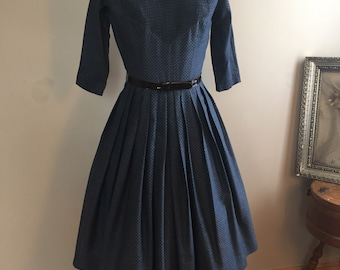 1950's L'AIGLON Dress in shades of Blue