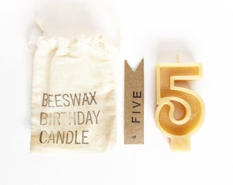 Beeswax Birthday Number - Single Digit