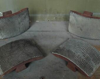 1940's Faux Wood Grain Stampers Set
