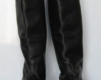Vintage Soviet Russian NEW Military Officer Leather Riding Boots USSR 41