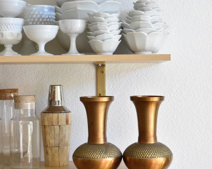 gorgeous vintage hollywood regency gold cast iron vase