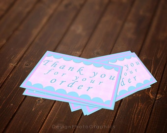 Thank you for your order cards - Instant Download