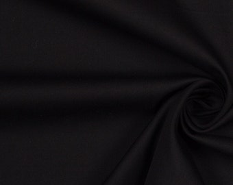 Black Strech Cotton Twill Fabric 5 yard piece