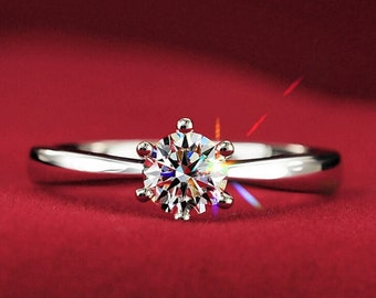 High imitation crystal- crystal ring-silver color ring- propsal ring- prom ring