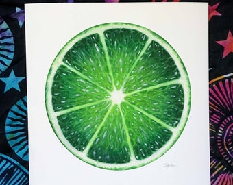 Lime Open Edition Print of original oil painting