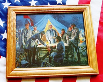 Civil War Painting. Confederate Generals at Battle of Sharpsburg / Antietam 1862