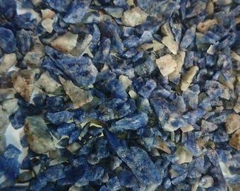 30g Sodalite Blue White Gemstone Mineral Rock Chips