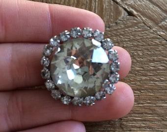 Antique Gemstone Diamond Brooch