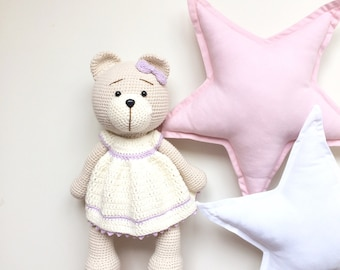 toy for sleep teddy  bear crochete  bear