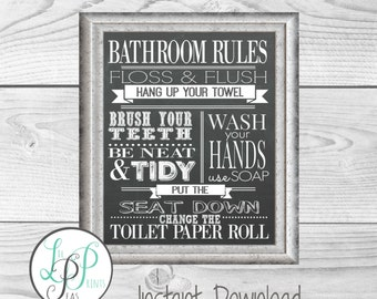Bathroom Wall Decor | Etsy