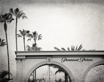 Paramount Pictures Gates, Hollywood, Los Angeles Photography, Black and White, Movie Studio, LA Wall Art, California Photo, Fine Art Print