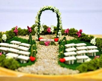 Garden Wedding - Garden Wedding Mini Garden Wedding Gift Garden Wedding Memorabilia Handmade Bridal Gift