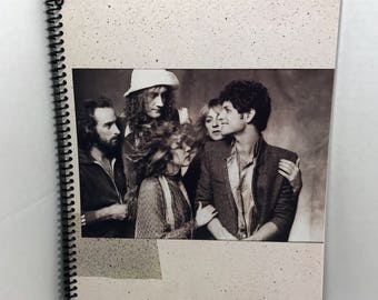 Fleetwood Mac Album Notebook Handmade Spiral Journal - Tusk v.4