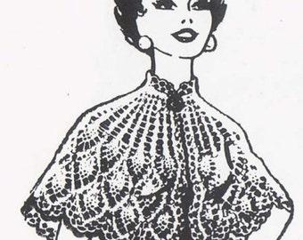 Crochet Cape Pineapple Cape Vintage Crochet Pattern Design No. 617 PDF Instant Download SML