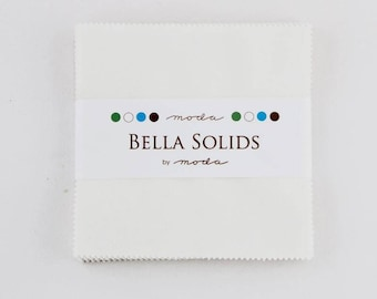 Charm Pack - White - Bella Solids