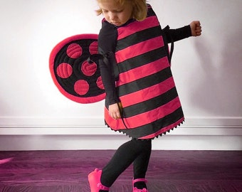 Ladybug Wings, Red Black. Photo Prop. Durable, Two-sided, No Wire.