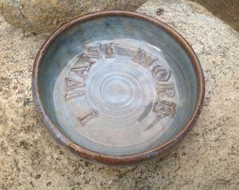 Peach Tribal Cross Ceramic Pet Bowl Personalized Dog Bowl