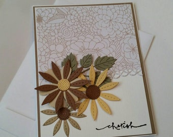 Handmade Sympathy Card. Bereavement. Grief. Loss of a Loved One. Thinking of You. Just Because. Encouragement