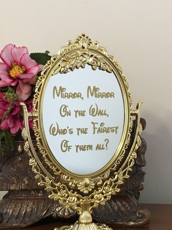 Mirror with decal inscriptionmirror mirror on the wall like this item teraionfo
