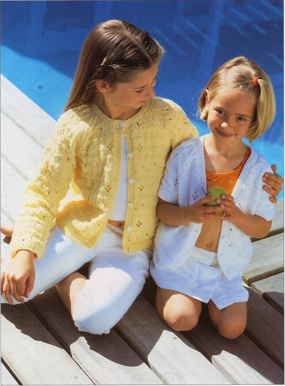 Girls Knitting Patterns Girls Cardigans Girls Lacy Cardigans
