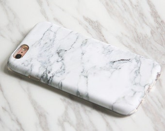 NEW iPhone X iPhone 8 case White Marble Print Gift for Woman Man iPhone 7s case Plus|SE|5 & Samsung Galaxy S8|S7|S6 protective cases KB-0876