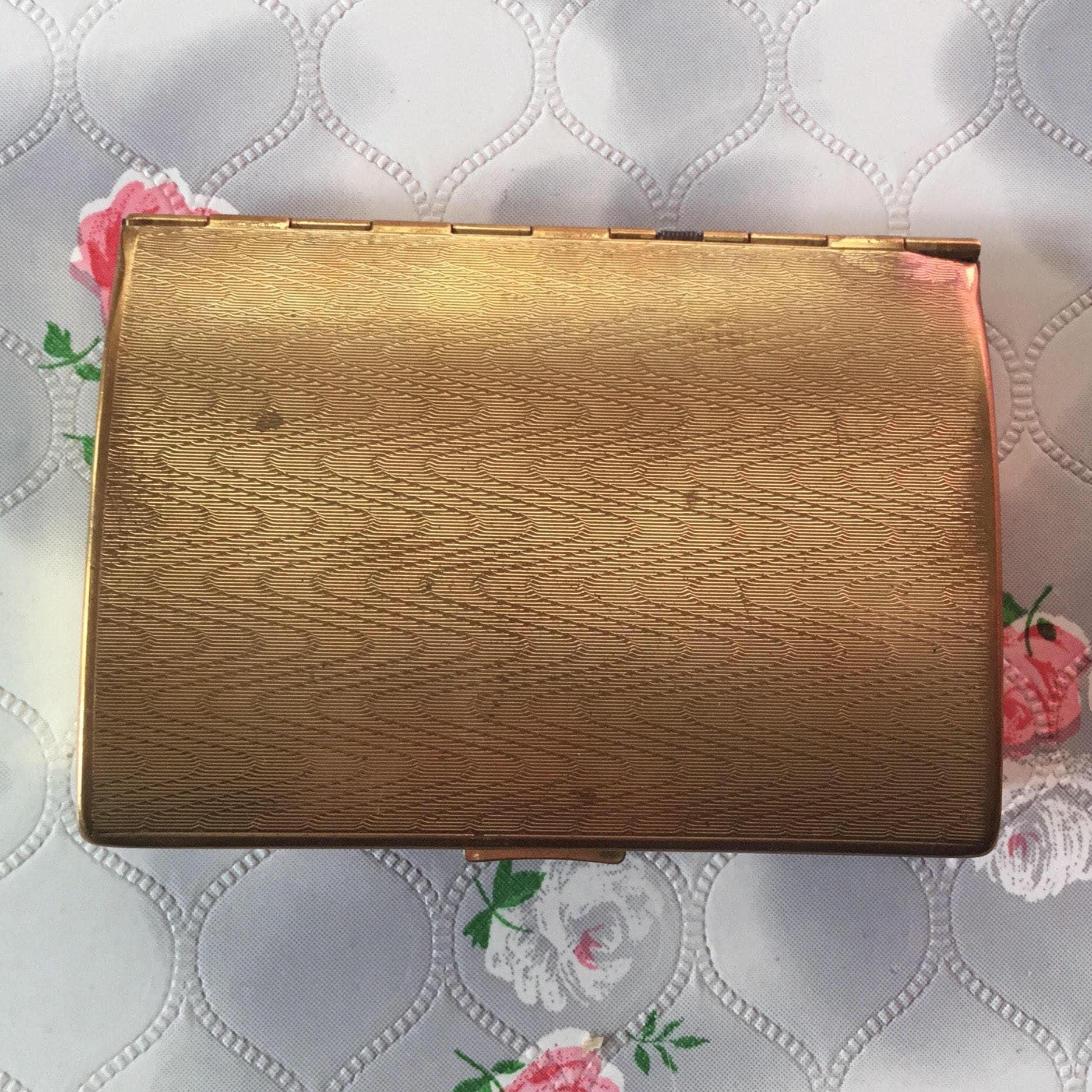 Vintage Melissa ladies gold tone cigarette case c1960s, could be ...