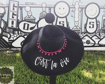 Customized Straw Hats - vinyl